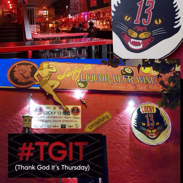 Thank God It's Thursday! We know many of you have had a long week with mid-terms, so what better way to start your weekend than a drink with the IEEC? After you finish your final class today, take a deep breath, relax, and head on over to LUCKY 13 off Market St. Great deals and great company. Be there; JOIN THE FUN! #IEEC #IEECsfsu #SFSU #GATORS #SF #Lucky13 #Lucky13sf #TGIT